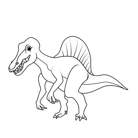 spinosaurus: Coloring book: Spinosaurus dinosaur