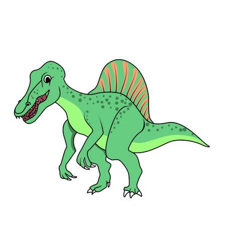 triassic: Spinosaurus dinosaur Illustration