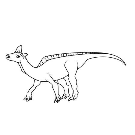 mesozoic: Coloring book: Lambeosaurus dinosaur