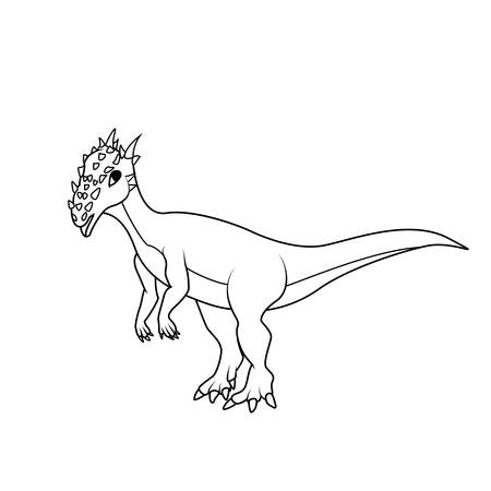 pachycephalosaurus coloring book dracorex dinosaur