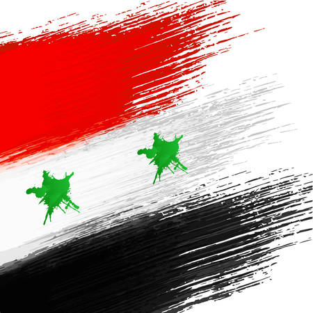 syrian war: Syrian flag grunge background