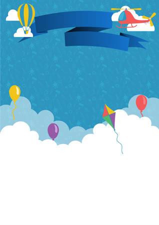 postcard design: Postcard, diploma or poster vector design template Illustration