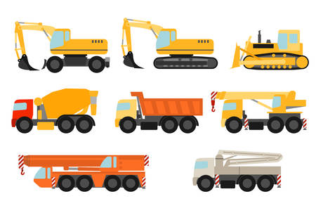 hydraulic: Construction vehicles set Illustration