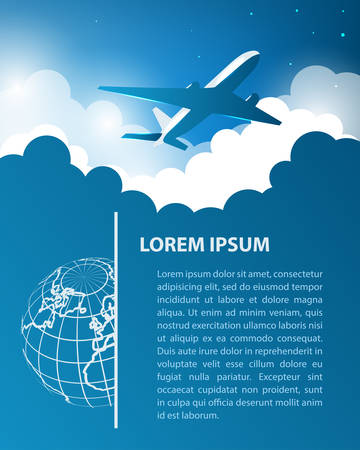 air travel: Air travel design template Vettoriali
