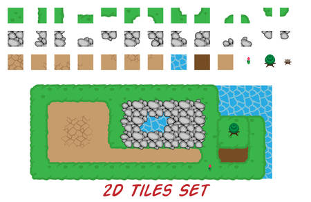 2D tiles set for top down games
