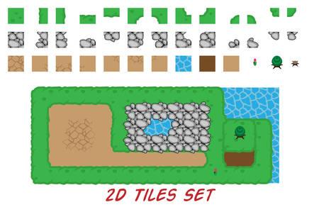 2D tiles set for top down games