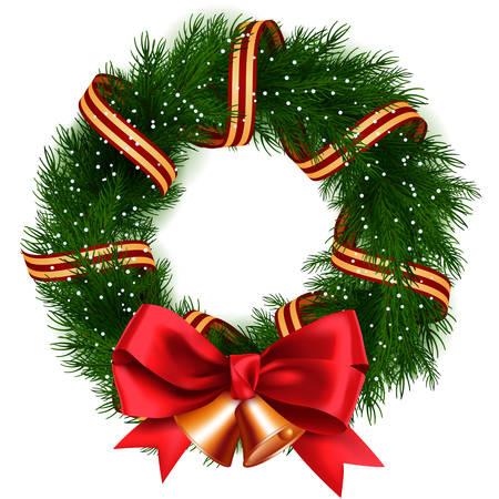 christmas isolated: Christmas Wreath isolated