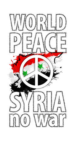 syria peace: Syria anti war poster