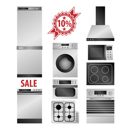 kitchen appliances: Kitchen household appliances set Illustration