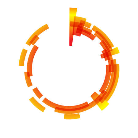 spinning: Abstract design element. May be used as frame or background Illustration