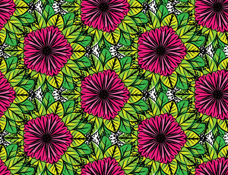 soulful: Colorful floral pattern Illustration