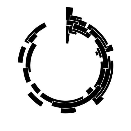 techno: Abstract design element. May be used as frame or background Illustration