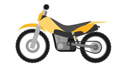 enduro: Flat style enduro motorcycle