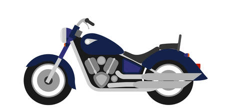 flank: Flat style classic road motorcycle Illustration