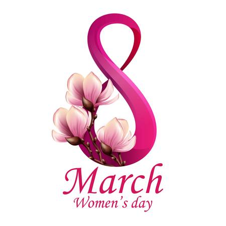 8 March Women's Day greeting card template Banco de Imagens - 50070634