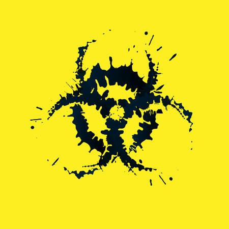 biohazard: Grunge biohazard sign