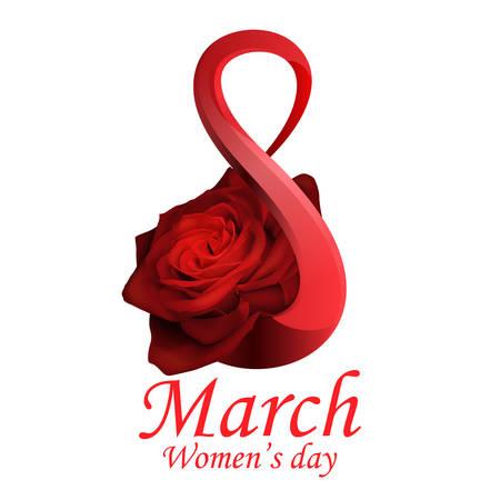 8. März Frauentags-Grußkarte Vorlage Vektorgrafik