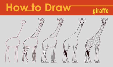 tutorial: Giraffe draw tutorial Illustration