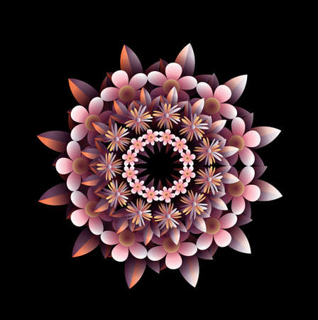 radial: Radial floral ornament