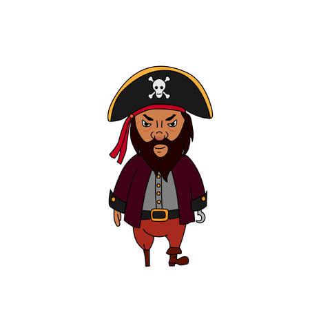 Cartoon pirate character Illustration