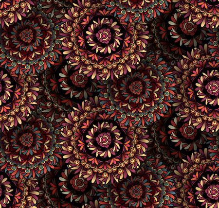 seamless pattern: Psychedelic mandala seamless pattern