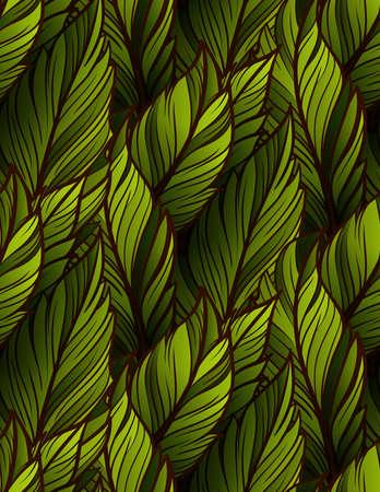 Bright leaves seamless pattern Vector Illustration