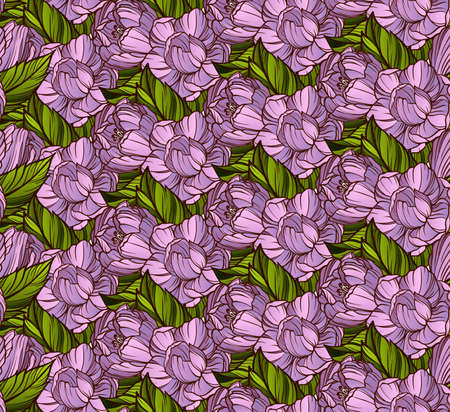 magnolia flowers: Magnolia flowers seamless pattern Illustration