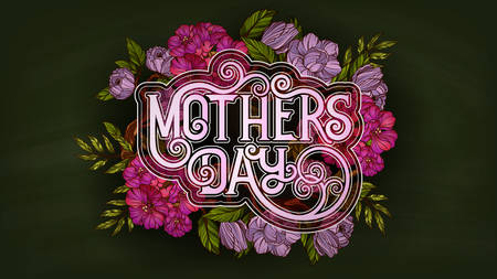 Happy Mother's Day. Retro style poster template