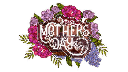 mother day: Happy Mothers Day. Retro style poster template Illustration