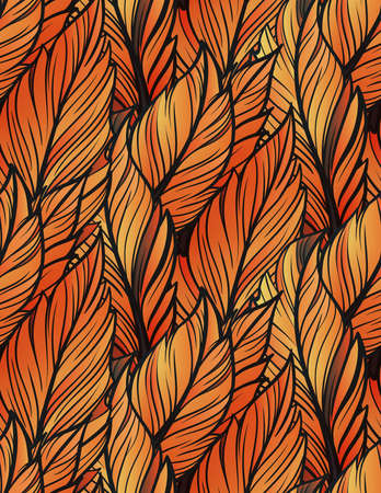 Bright leaves seamless pattern