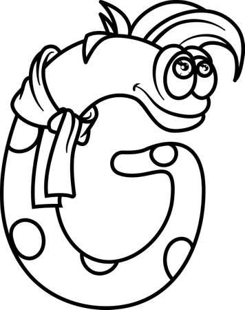 Monster Páginas Para Colorear Alfabeto: Letra J Ilustraciones ...