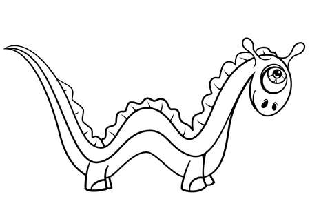 Monster alphabet coloring pages: letter W