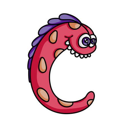 letter c: Monster alphabet: letter C Illustration