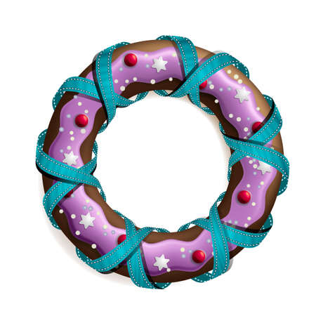 Cookie stylized christmas wreath