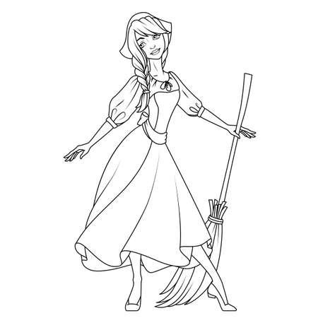 beautiful cinderella: Coloring book: Cinderella character illustration