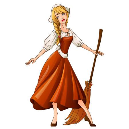 cinderella: Cinderella fairytale character illustration