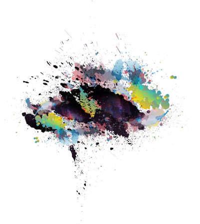 colorful grunge: Abstract colorful grunge splashes