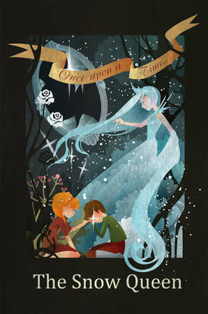 Snow Queen, Kai and Gerda fairy tale illustration Ilustracja
