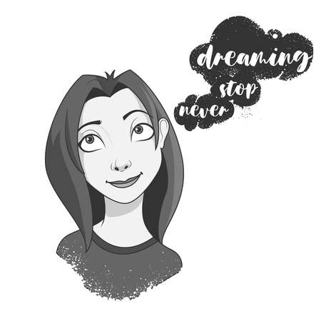 Young woman dreaming.