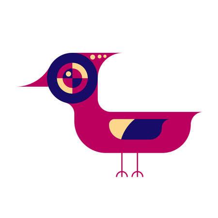 Flat style bird illustration. Abstract bird icon.