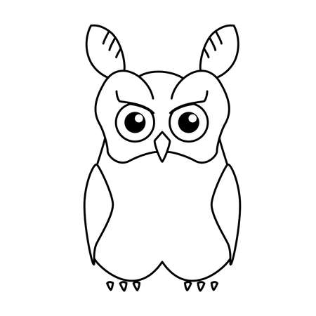 Coloring book: eared owl