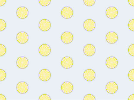 Slices of fresh yellow lemon seamless pattern. Suitable for textile, wrapping, wallpaper