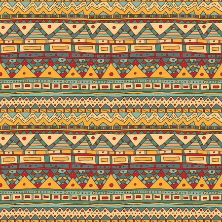 Seamless vector abstract ethnic pattern  Seamless pattern can be used for wallpaper, pattern fills, web page background,surface and fabric textures  Bright ethnic lines  Vector