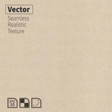 Vector naadloze kartontextuur Phototexture voor uw ontwerp