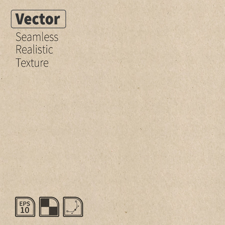 Vector seamless cardboard texture  Phototexture for your design Vector