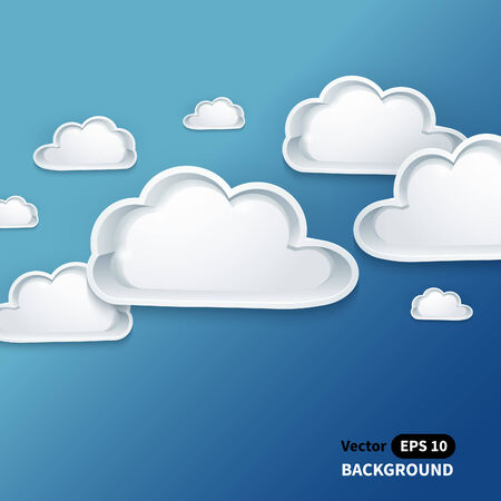 Creative cloud background for your business. Vector illustration. Vector