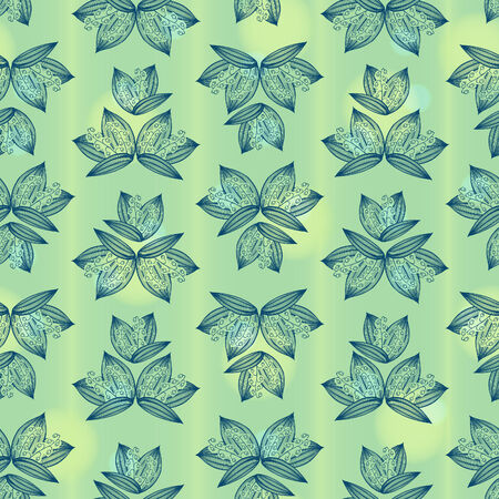 Vector lily of the valley pattern. Seamless pattern can be used for wallpaper, pattern fills, web page background,surface and fabric textures. Fresh touching spring floral background.