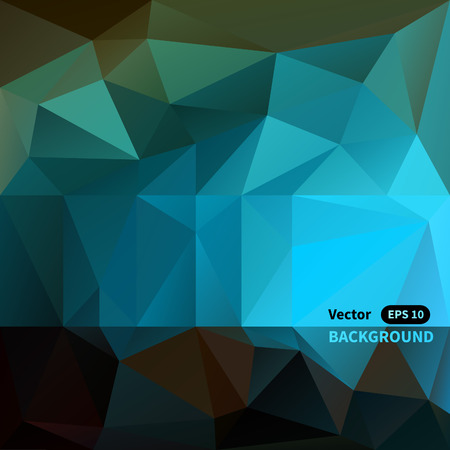 rigorous: Abstract triangle mosaic vector background Illustration