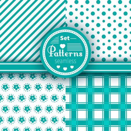 lobule: Vector vintage seamless patterns set