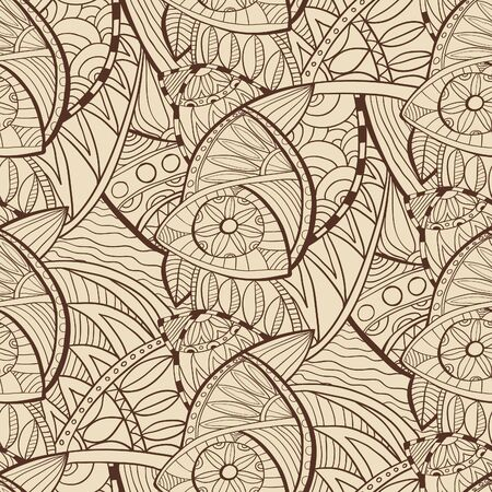 fabric textures: Hand drawn seamless vector abstract ethnic pattern. Seamless pattern can be used for wallpaper, pattern fills, web page background,surface and fabric textures.